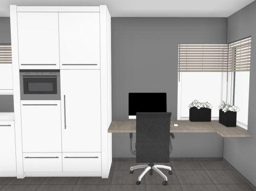 VRI interieur: aanzicht keuken met werkplek