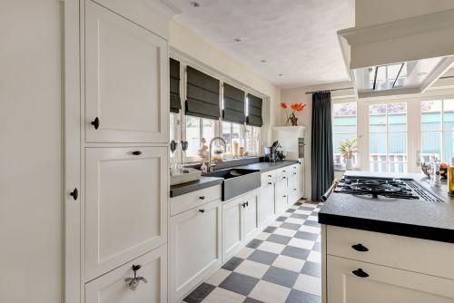 Keuken hout wit witte keuken grijze vloer xnovinky witte grijze keuken moderne keuken door - Witte keukenfotos ...