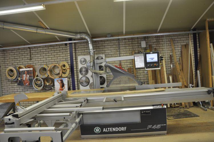 VRI interieur Amerongen werkplaats computergestuurde formaatzaag Altendorf F45