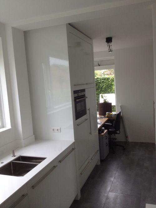 Keukengordijnen Landelijk : Keuken Eiken Grijs : VRI interieur design keuken kookeiland hoogglans