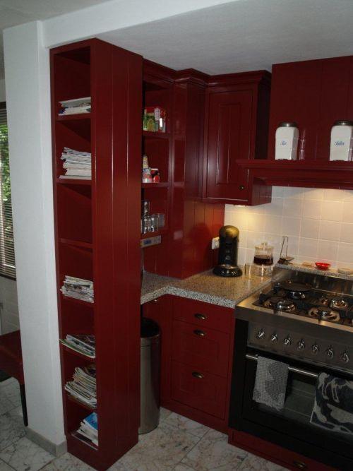 Woonkeuken vri interieur - Keuken op het platteland ...