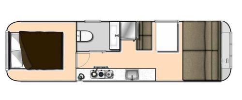 VRI interieur: inrichting Airstream trailer