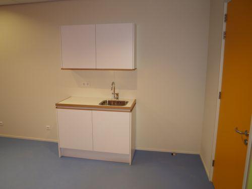 VRI interieur: keukenpantry's gezondheidscentrum