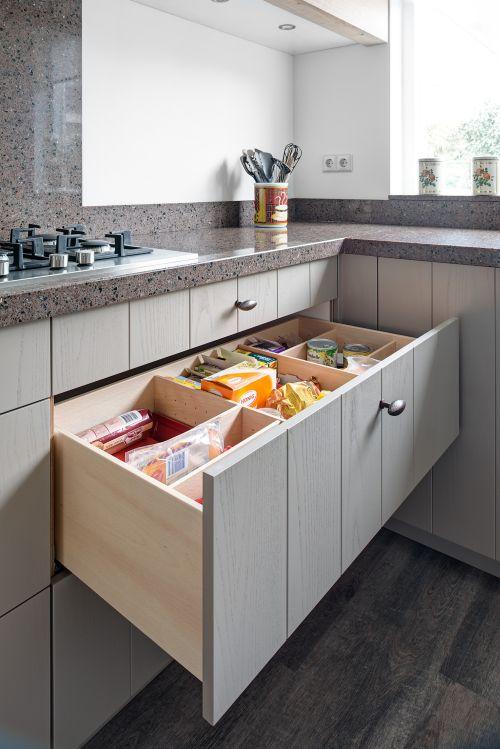 Uw laden kunnen afgestemd worden op de kleur van uw keuken of meubel ...