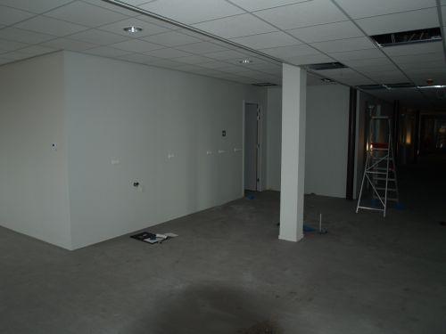 De ruimte waar de horeca gerealiseerd moet worden