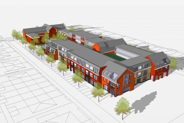 VRI interieur: dorpshuis de Toekomst in Oranjepoort te Langbroek