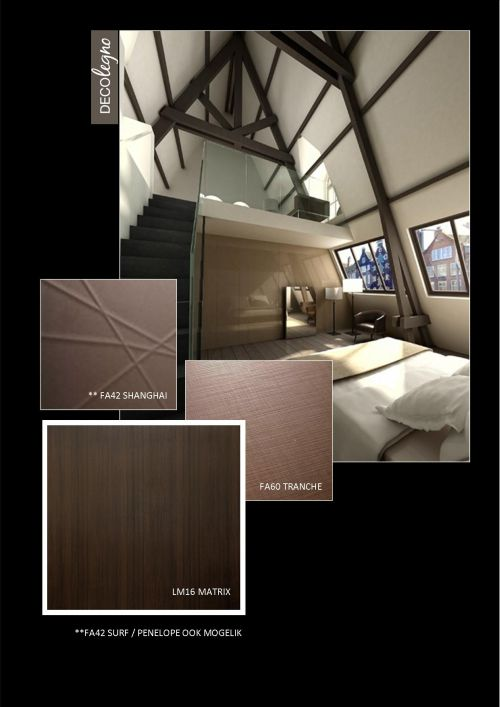 VRI interieur: moodboard Decolegno structuren