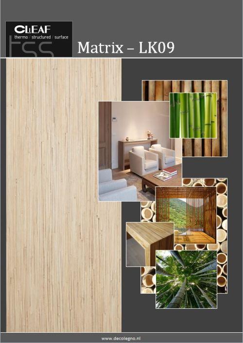 VRI interieur: moodboard Decolegno structuur Matrix LK09