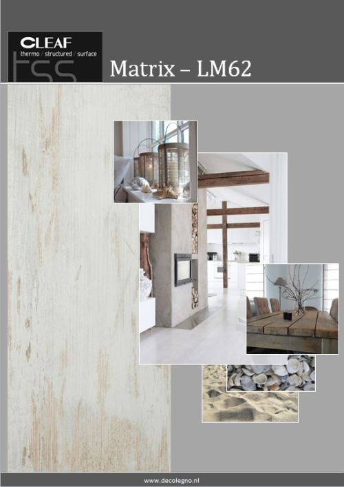 VRI interieur: moodboard Decolegno structuur Matrix LM62