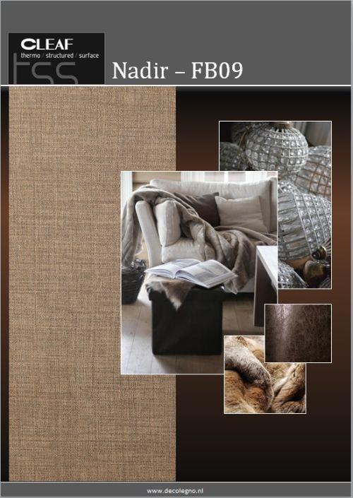 VRI interieur: moodboard Decolegno structuur Nadir FB09