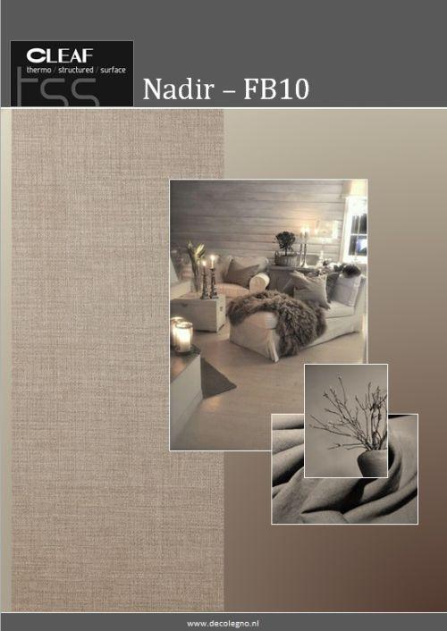 VRI interieur: moodboard Decolegno structuur Nadir FB10