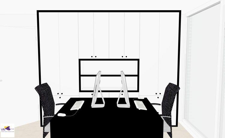 VRI interieur: kantoor aan huis in 3D