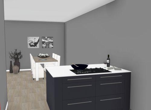 VRI interieur: aanzicht kookeiland
