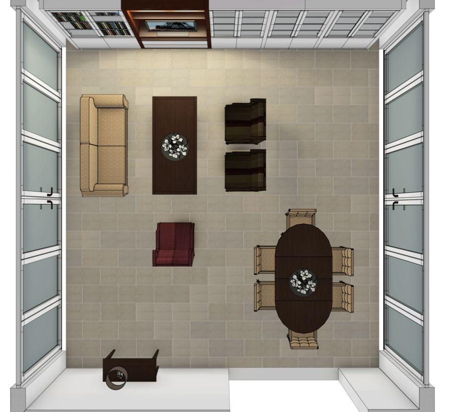 3d visualisatie vri interieur - Interieur van een huis ...