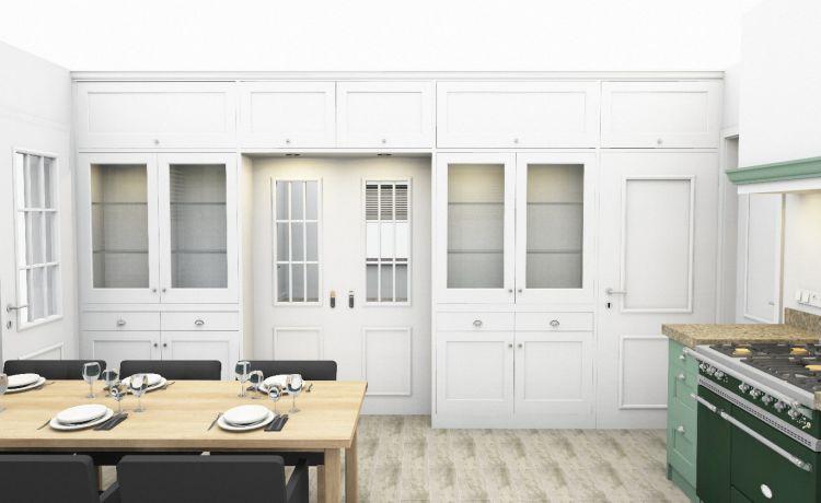 VRI interieur: kamer en suite keukenzijde in 3D