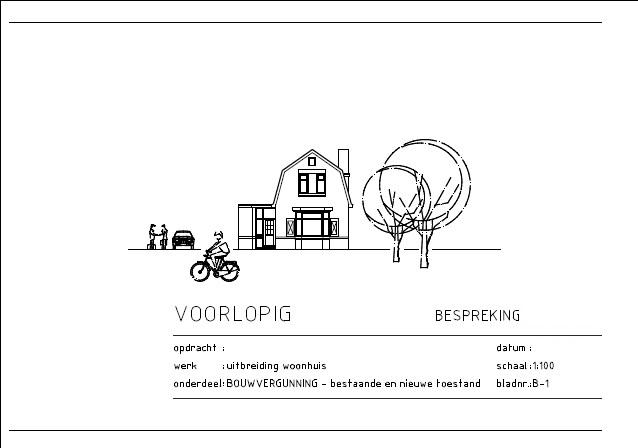 VRI interieur: bouwkundige tekening bouwvergunning