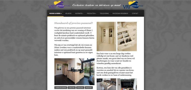 VRI interieur vernieuwde website