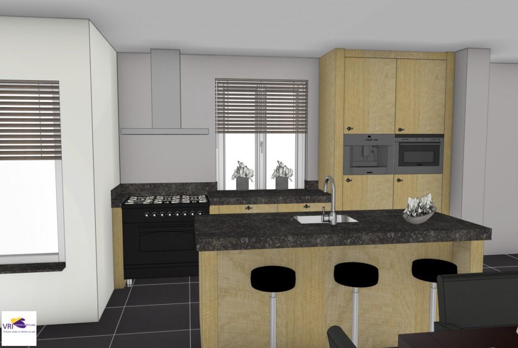 Keuken eiken verweerd amerongen vri interieur for Landelijke stijl interieur