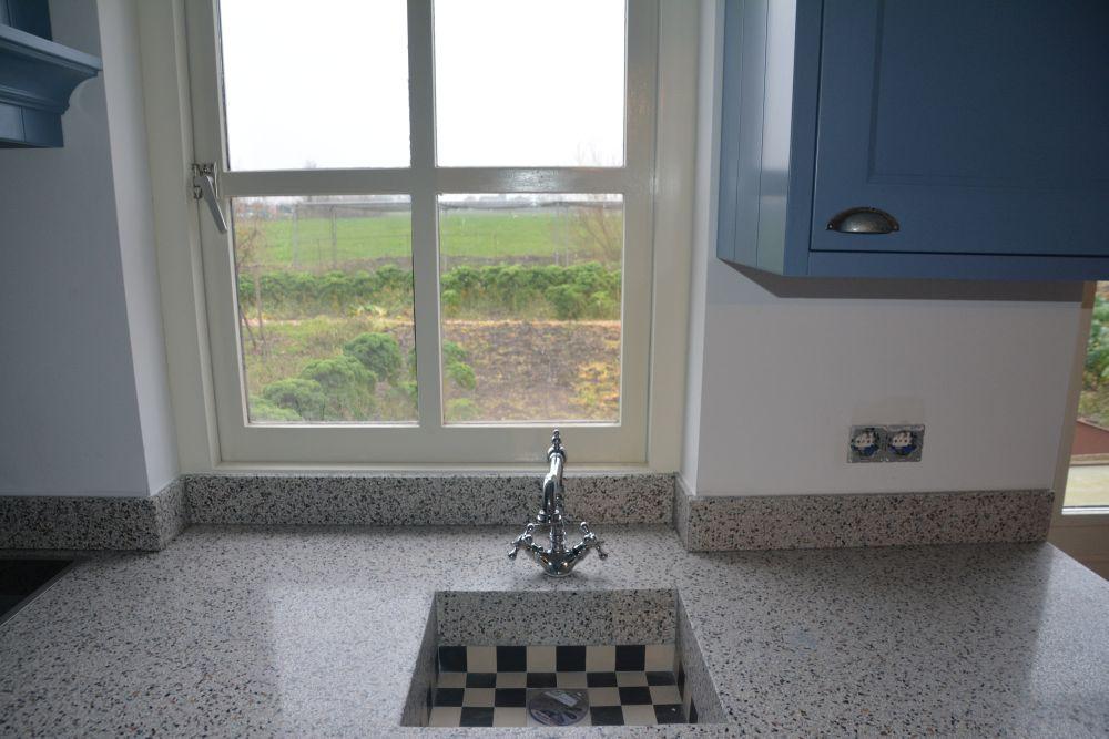 Interieur Klassieke Stijl : Keuken lichtblauw langbroek vri interieur